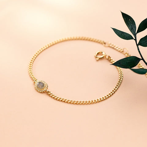 Golden / Silver Bangle Bracelet with stone -Make the difference with Galatea Effect accesories
