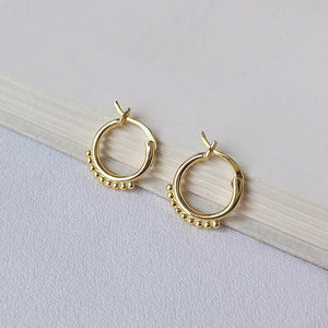 Tiny Gold Bead Hoop -Make the difference with Galatea Effect accesories