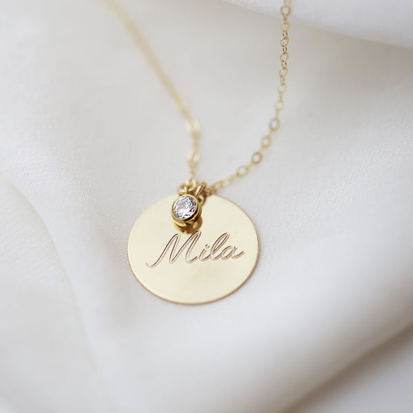 Handmade Personalized Coin Necklace -Make the difference with Galatea Effect accesories