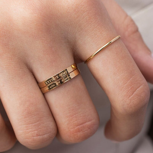 Personalized Handmade Gold Filled Ring -Make the difference with Galatea Effect accesories