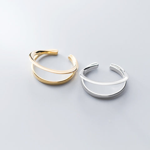 Double Stripe Ring -Make the difference with Galatea Effect accesories