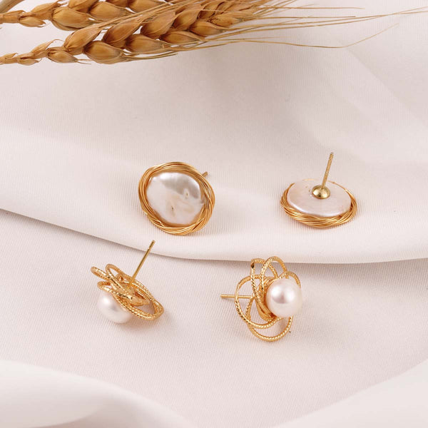 Handmade Natural Pearl Earrings -Make the difference with Galatea Effect accesories