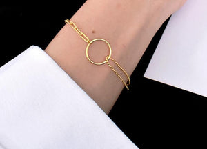 Double Layers Chain Bracelet -Make the difference with Galatea Effect accesories