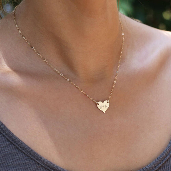 Handmade Personalized Heart Necklace -Make the difference with Galatea Effect accesories