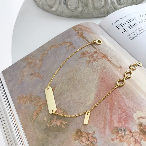 Golden Glossy Card Bracelet -Make the difference with Galatea Effect accesories