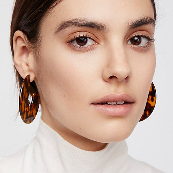 Geometric Leopard Earrings -Make the difference with Galatea Effect accesories