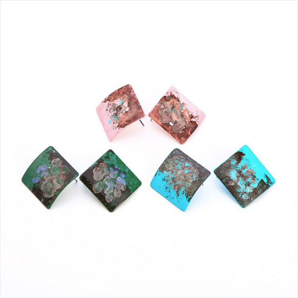 Painted Rhombus Earrings -Make the difference with Galatea Effect accesories