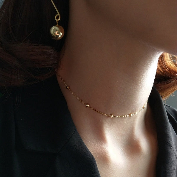 Round Bead Chocker -Make the difference with Galatea Effect accesories