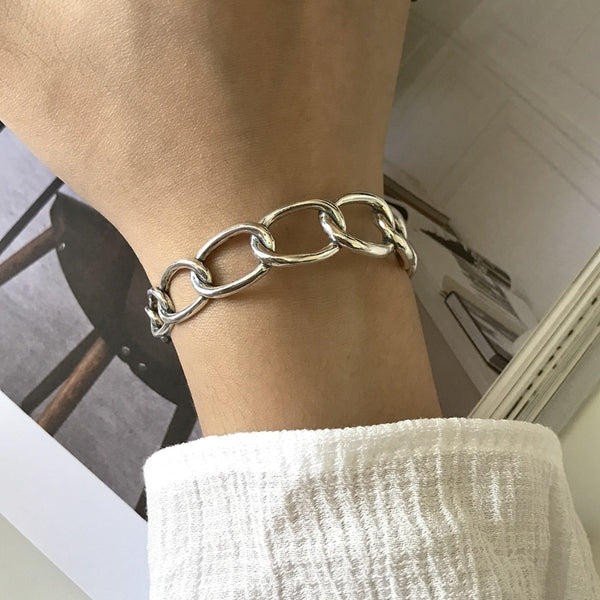 Wide Chain Bracelet -Make the difference with Galatea Effect accesories