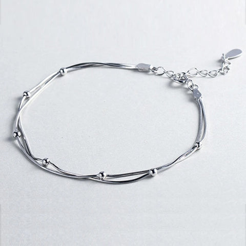 Silver Beads Bracelet -Make the difference with Galatea Effect accesories