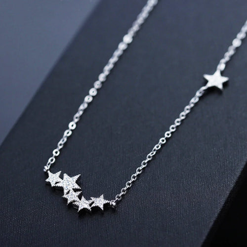Silver Stars Necklace -Make the difference with Galatea Effect accesories