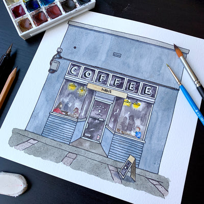 Habit Coffee Shop: Using Simple Shapes to Draw Buildings