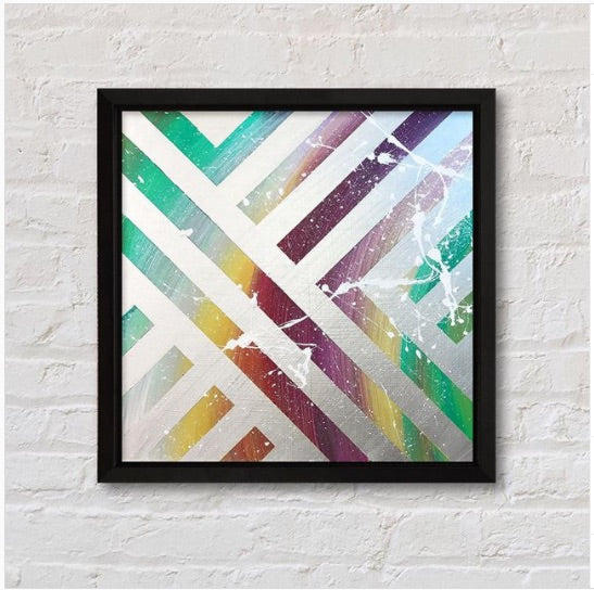 DIY Abstract Art painting on Canvas