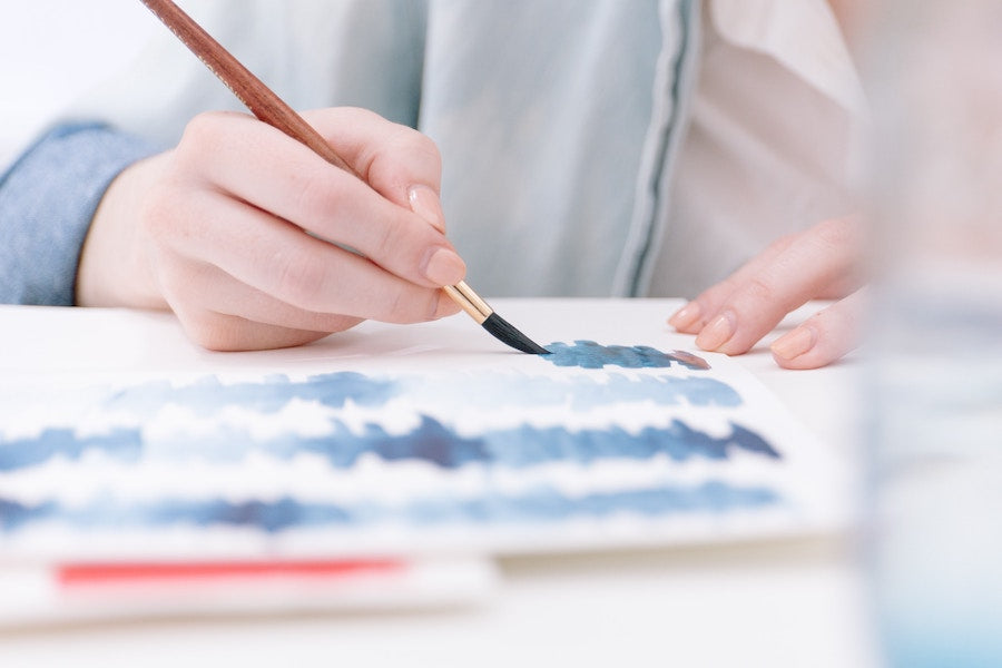 Image of person practicing watercolour