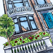 A Walk Through London | Watercolour Art Print