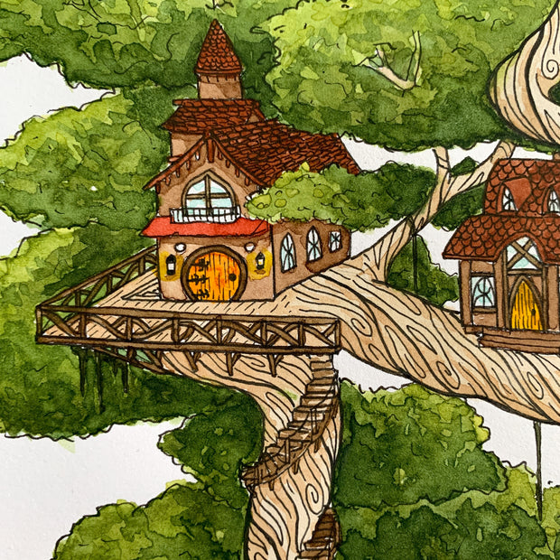 Forest Dwelling (Original),[product_type] - Andie Laf Designs