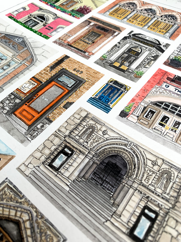 The Doors of Victoria Print,[product_type] - Andie Laf Designs