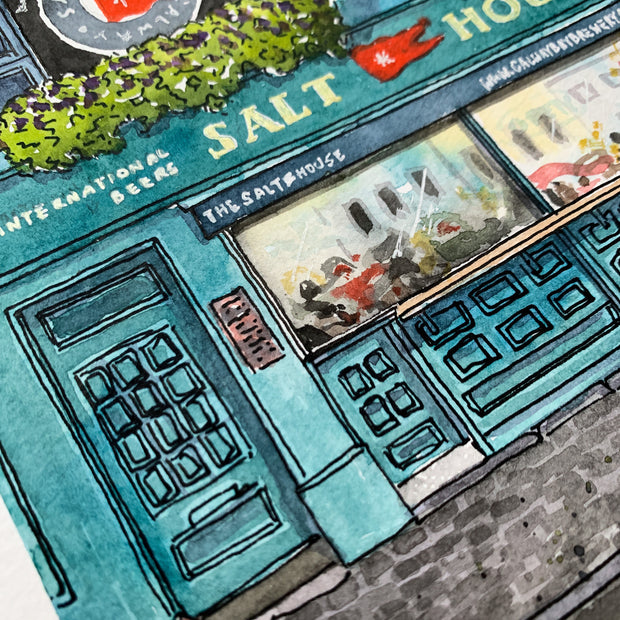 The Salt House Pub Galway (Original) | Watercolour Painting