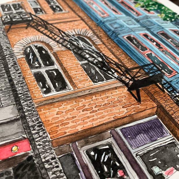 Gastown Buildings Print,[product_type] - Andie Laf Designs