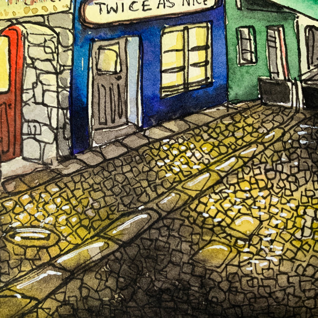 Christmas in Galway (Original) | Watercolour Painting