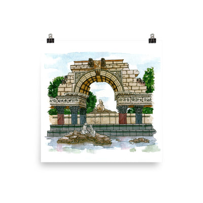 Schönbrunn Crumbled Fountain Print,[product_type] - Andie Laf Designs