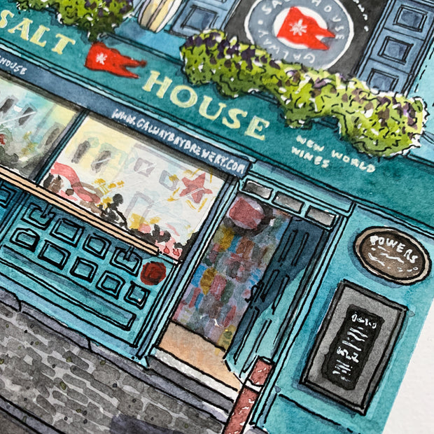 The Salt House Pub Galway | Watercolour Art Print