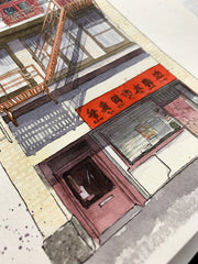 Downtown Chinatown (Original),[product_type] - Andie Laf Designs