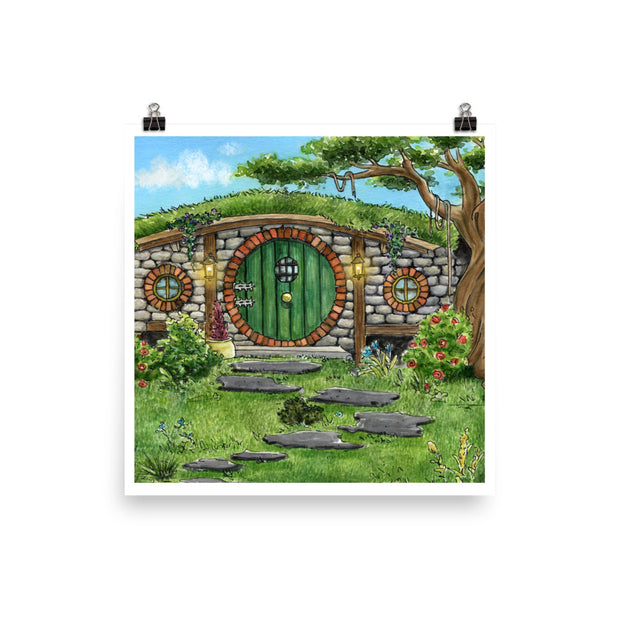 A Hobbit Hole | Watercolour Art Print