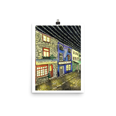 Christmas in Galway | Watercolour Art Print