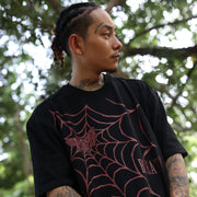 """SPIDER TRAP"" T-SHIRT / BLACK"