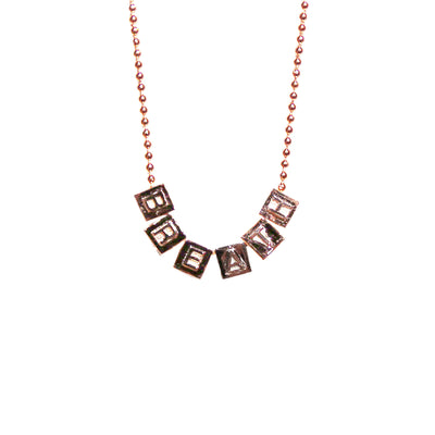 "BreatH ""DICE"" NECKLACE / PINK GOLD"