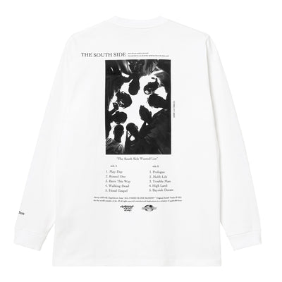 L/S Crew Neck Tee - Poly Jersey / WHITE
