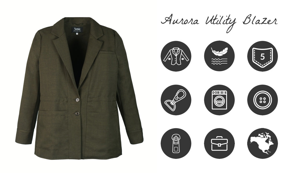 Aurora Utility Blazer for Women Features and Benefits | Xena Workwear for Women