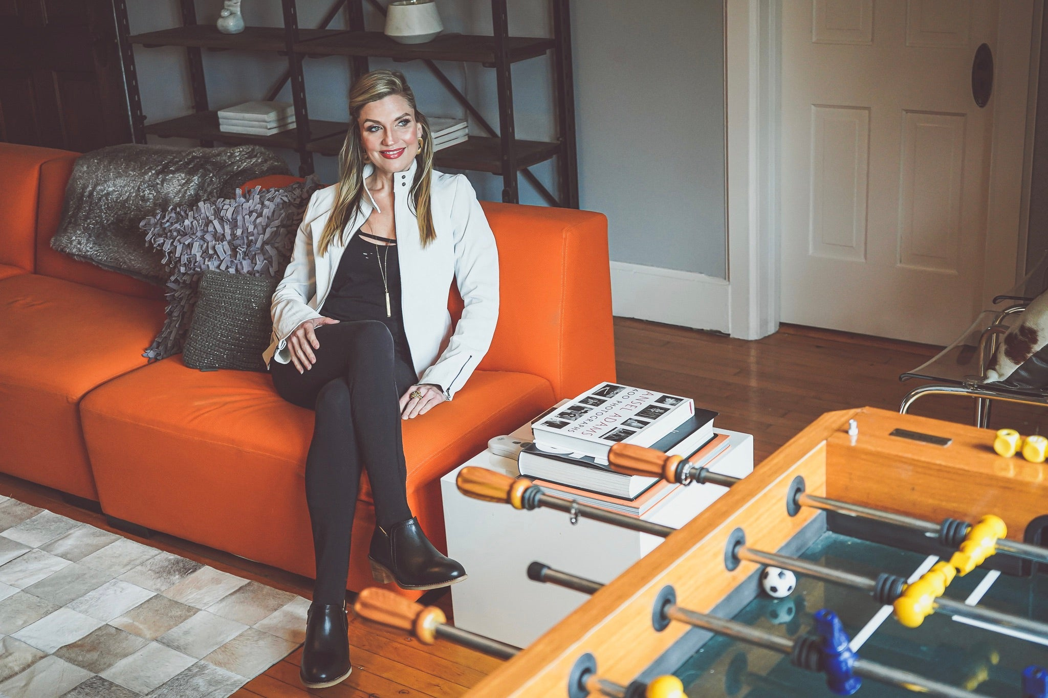 Holly Baumgart in her Milwaukee home