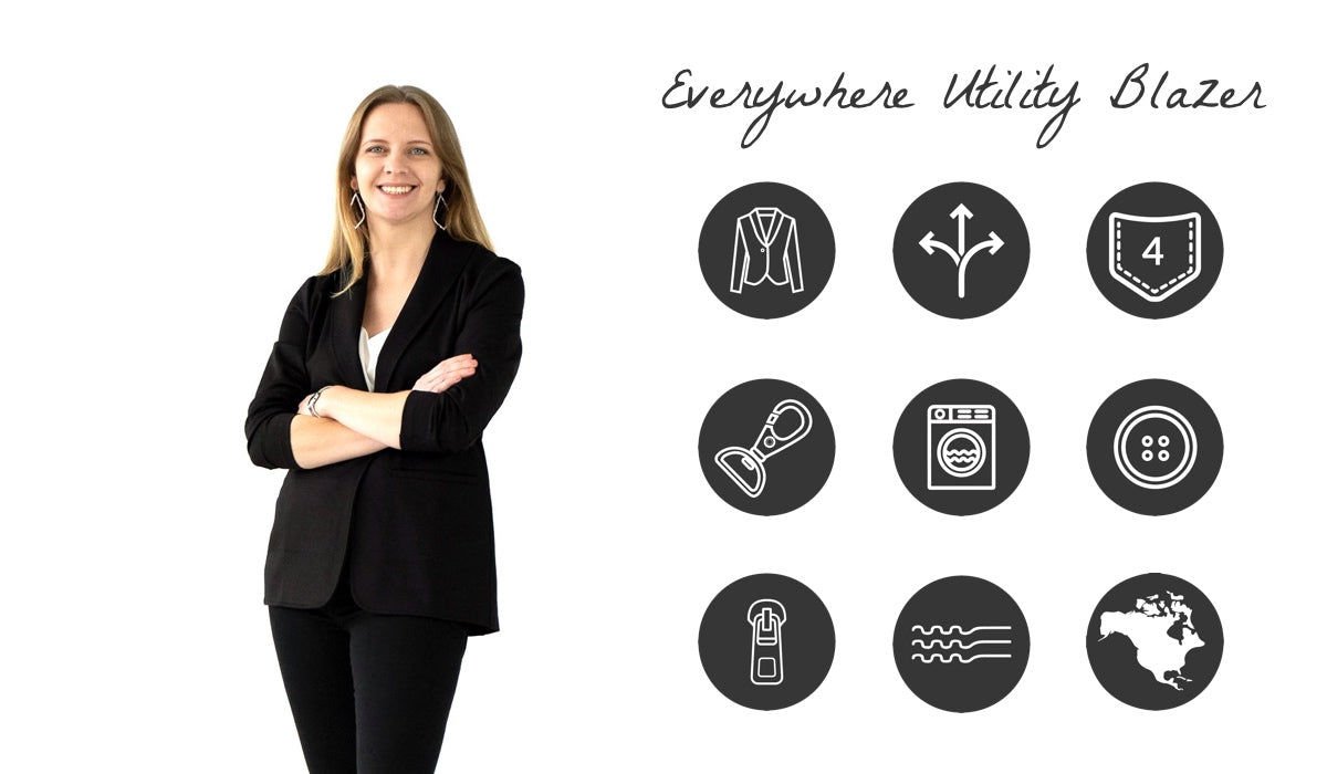 Everywhere Utility Blazer for Women Features and Benefits | Xena Workwear for Women