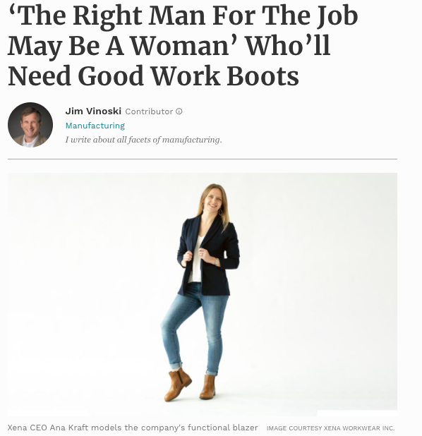 Forbes Xena Workwear article picture