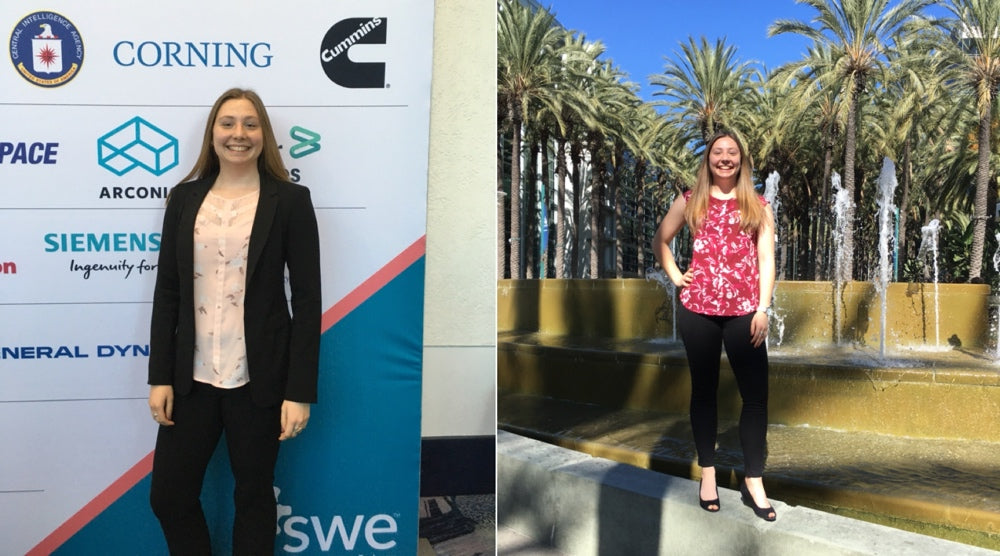 Katy Pioch attending the 2019 SWE Conference in Anaheim, CA