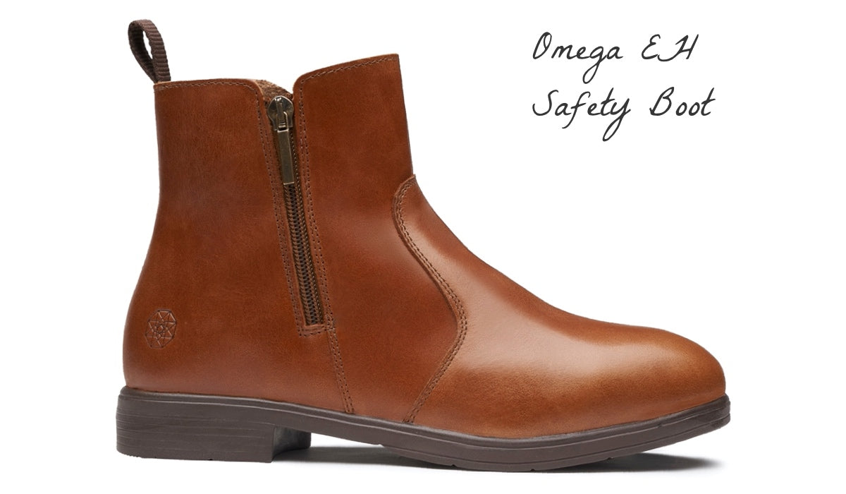 Omega Electrical Hazard EH Safety Steel-Toe Boot Features and Benefits | Xena Workwear for Women