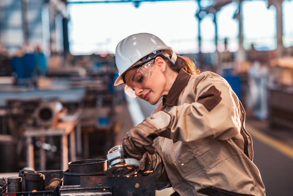 Forbes April, 2021 article that looks into what Women in Traditionally Men's Roles really need Featuring-xena-workwear