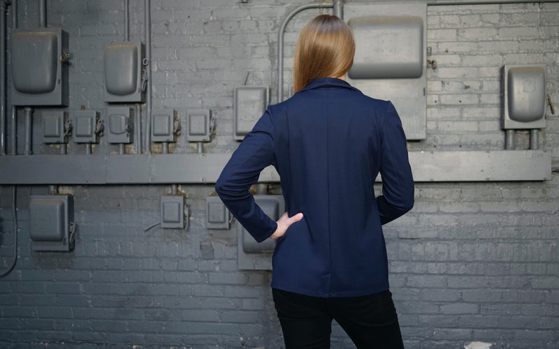 Everywhere Utility Blazer for Women in Deep Navy | High Functionality + Stylish Looks | Xena Workwear