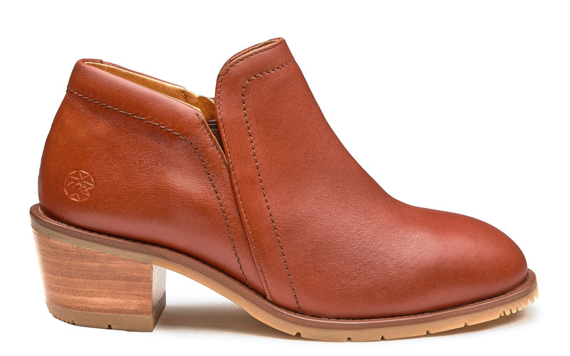 Gravity Steel Toe Safety Shoe for Women | Full-Grain Leather in Cognac Color | Xena Workwear