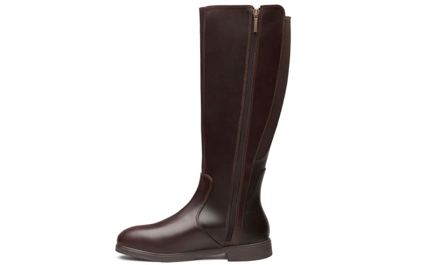 Nova Electrical Hazard Steel-Toe Safety Riding Boots for Women | Full-Grain Leather in Chestnut Brown Color