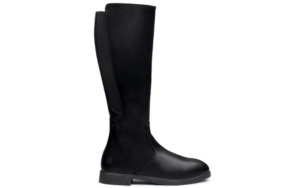 Nova Electrical Hazard Steel-Toe Safety Riding Boots for Women | Full-Grain Leather in Stylish Black Color