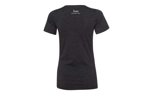 Xena Workwear V-Neck Shirt | Charcoal Triblend color