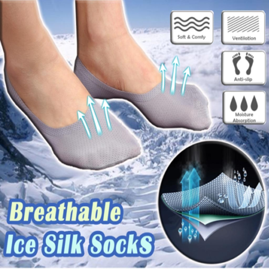 Breathable Ice Silk Socks (Set of 3)