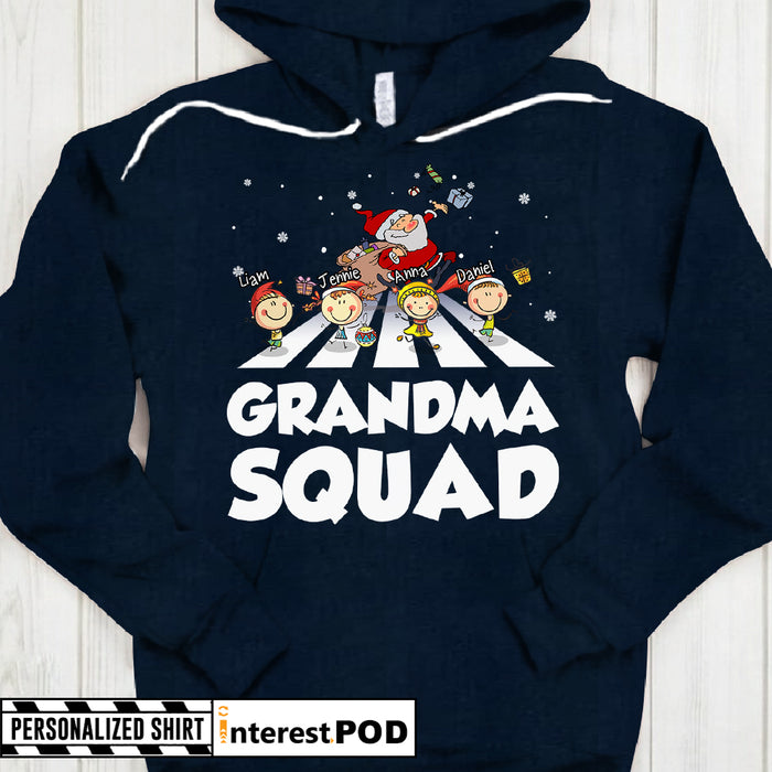Grandma, Nana, Gigi Shirt - Grandma Squad - Walking The Beatles Santa Claus & Kids - PT98 - PHTS