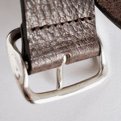 "300-Year Sterling Silver Buckle Belt: Water Buffalo ""High Plains Noir"" Edition"