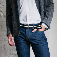 "Adam Smith Cashmere Belt — ""Chocolate Sandwich Cookie"""