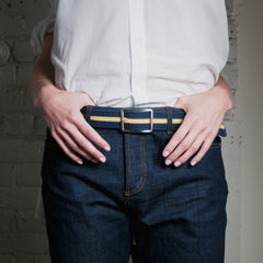 "Adam Smith Cashmere Belt — ""Hail to the Victor"""