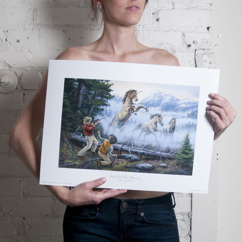 Signed <em>Charge of the Unicorns</em>  Print